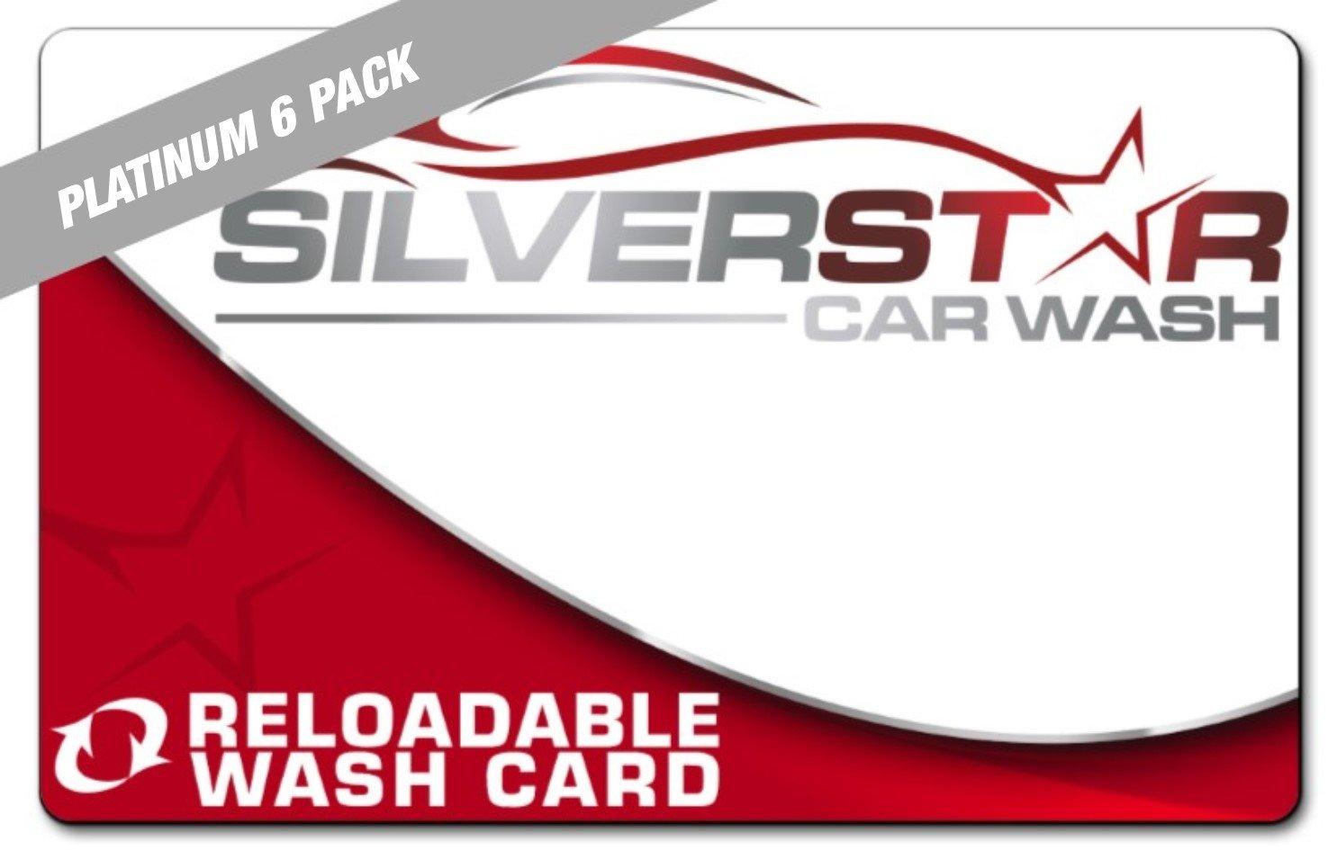 Platinum Wash Card: 6 Pack